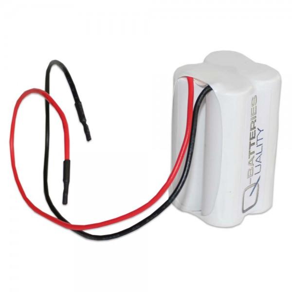 Akku Pack 4,8V 900mAh für Notbeleuchtung D-Reihe NiMH F2x2 4xAAA Kabel