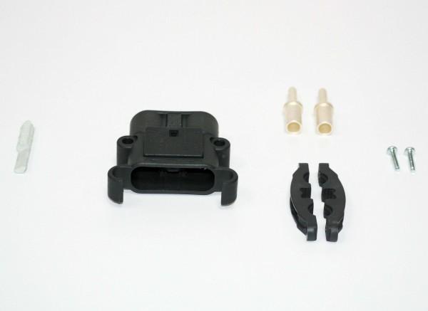 REMA Stecker Euro Din 80A 25mm² (Kodierstift grau, Hauptkontakt, Zugentlastung)