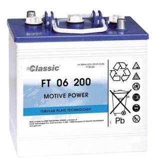 Exide Classic FT 06 200 Antriebsbatterie 6 Volt 200 Ah (5h) mit PzS-Platten