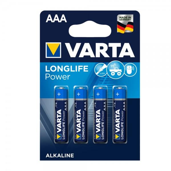 Varta Longlife Power Micro AAA Batterie 4903 LR03 (4er Blister)