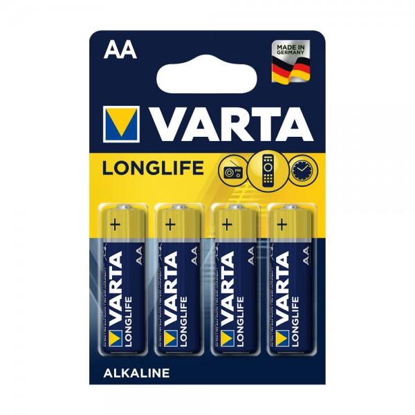 Varta Longlife Mignon AA Batterie 4106 (4er Blister)