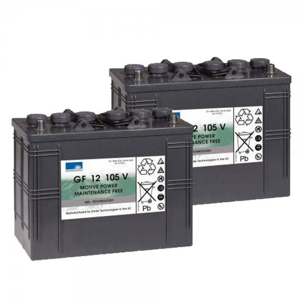 Ersatzakku für Kärcher Reinigungsmaschinen Gel Batterie 24V 105Ah (2 Stück)
