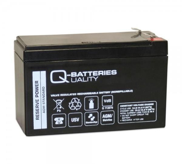 Q-Batteries 12LS-9 12V 9Ah F2 Blei-Vlies-Akku AGM 10 Jahre