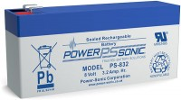 Powersonic 8V 3,2Ah Blei-Vlies Akku AGM PS 832