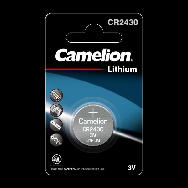 Camelion CR2430 Lithium Knopfzelle (1er Blister) UN3090