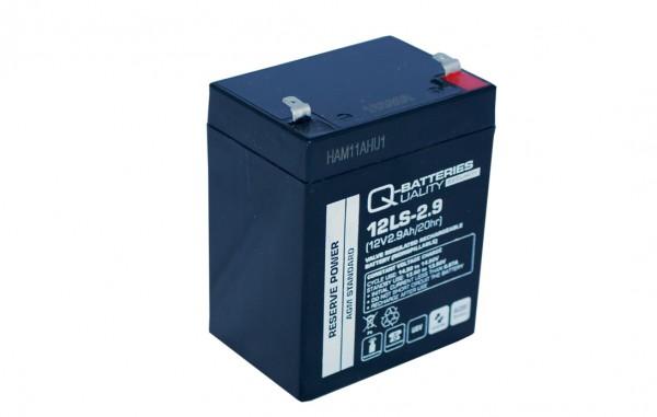 Q-Batteries 12LS-2.9 12V 2,9Ah Blei-Vlies Akku / AGM VRLA