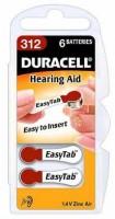 Duracell ActivAir Easy Tab 312 Hörgeräte Batterie 1,4V (6er Blister)