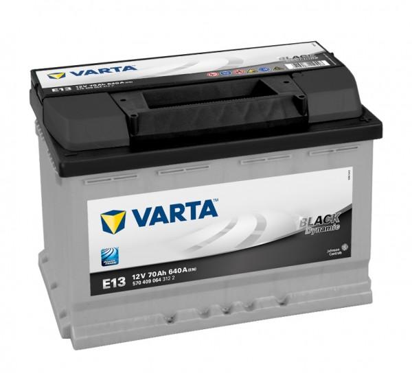 VARTA E13 Black Dynamic 12V 70Ah 640A Autobatterie 570 409 064