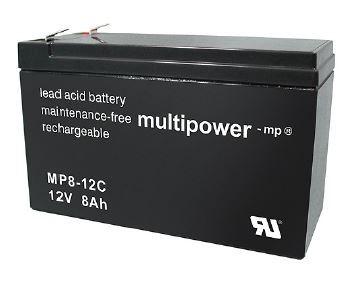 Multipower MP8-12C / 12V 8Ah Blei Akku Zyklentyp