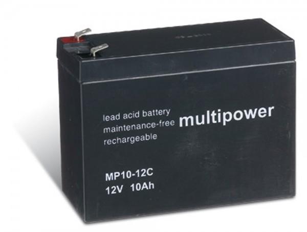 Multipower MP10-12C / 12V 10Ah Blei Akku Zyklentyp