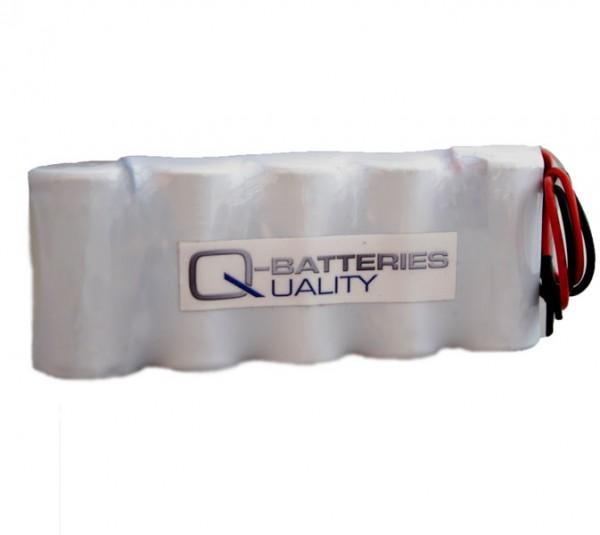 Akku Pack 6V 1500mAh für Notbeleuchtung Reihe NiCd F5x1 5xSub-C Hochtemperaturzellen Kabel