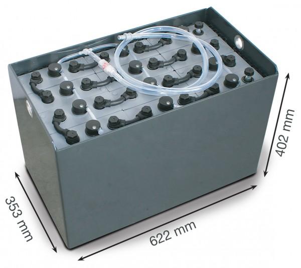 Q-Batteries 24V Gabelstaplerbatterie 4 PzS 240 Ah DIN B (622 x 353 x 402mm L/B/H) Trog 57014087 inkl