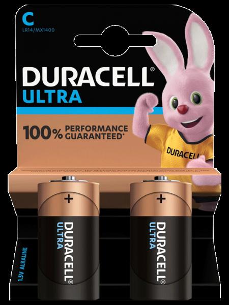Duracell ULTRA LR14 Baby C Batterie MX 1400 (2er Blister)
