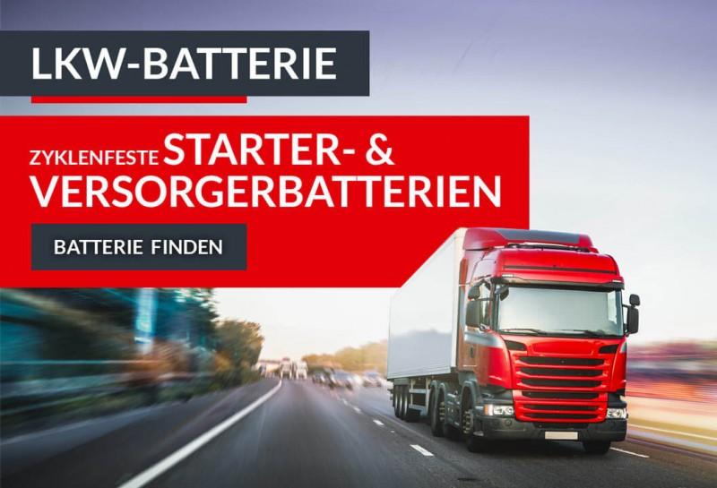 Starter- & Versorgerbatterien für LKW