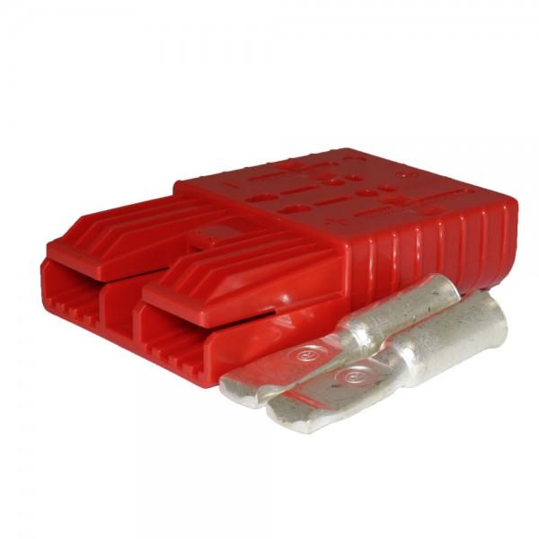 Flachstecker SBX 350A rot, Stecker inkl. 2 Hauptkontakte, 24V, 70mm²