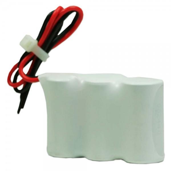 Akku Pack 3,6V 1500mAh für Notbeleuchtung Reihe NiCd F3x1 3xSub-C Hochtemperaturzellen Kabel