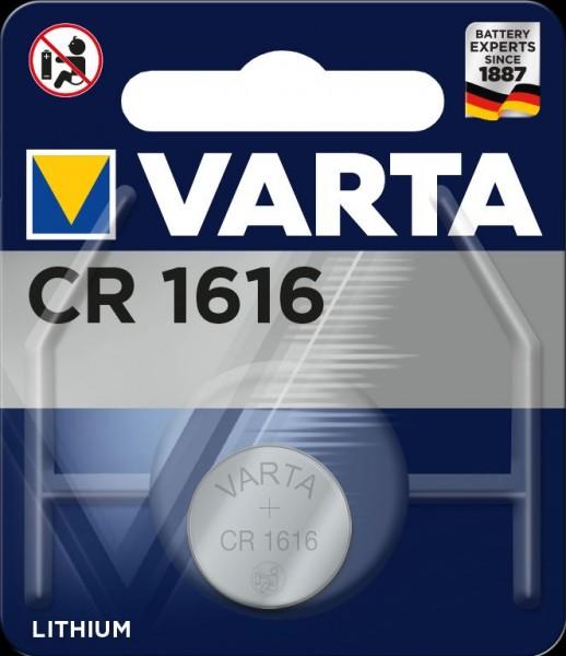 Varta Electronics CR1616 Lithium Knopfzelle 3V (1er Blister) UN3090 - SV188