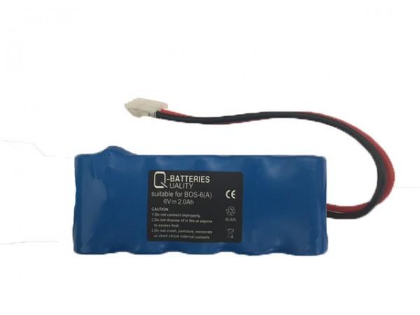 Q-Batteries Ersatzakku für Bosch Somfy K8 K10 K12 NiMH 6V 2000mAh