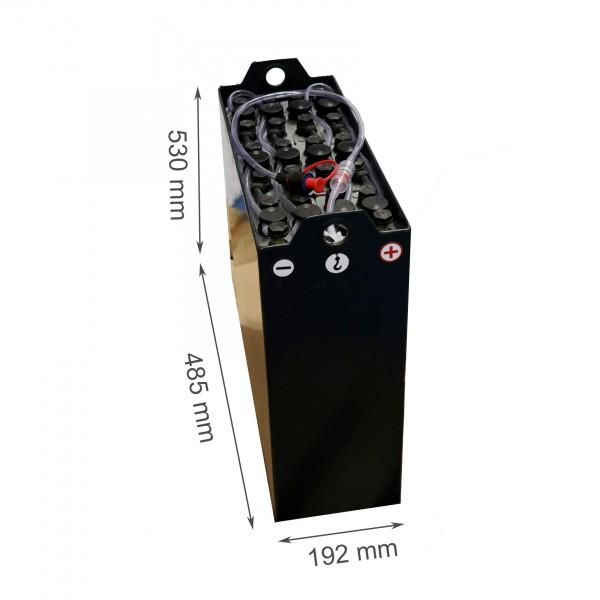 Q-Batteries 24V Gabelstaplerbatterie 2 PzB 130 Ah (485 x 192 x 530mm L/B/H) Trog 57034123 inkl. Aqua