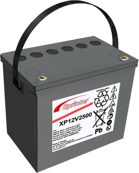 Exide Sprinter XP12V2500 12V 69,5Ah Blei-AGM Akku mit VdS