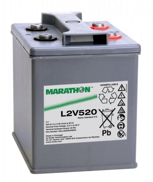 Exide Marathon UL2V520 2V 520Ah AGM Blei Akku VRLA