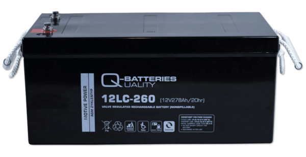 Q-Batteries 12LC-260 / 12V - 278Ah Blei Akku Zyklentyp AGM - Deep Cycle VRLA