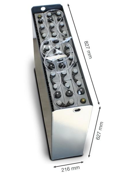 Q-Batteries 24V Gabelstaplerbatterie 3 PzS 375 Ah DIN A (827 x 216 x 627mm L/B/H) Trog 57014022 inkl