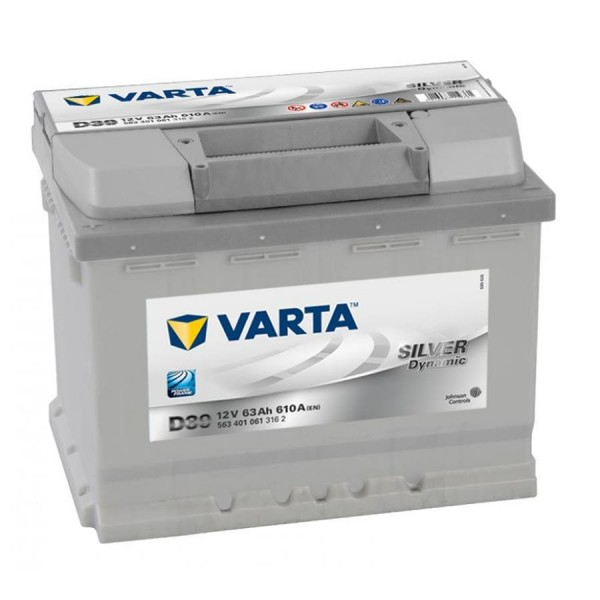 VARTA D39 Silver Dynamic 12V 63Ah 610A Autobatterie 563 401 061