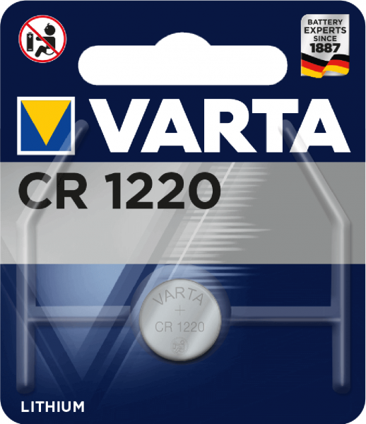 Varta Electronics CR1220 Lithium Knopfzelle 3V (1er Blister) UN3090 - SV188