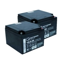 Ersatzakku für Brandmeldezentrale Siemens FC2020-AA 2 x AGM Batterie 12V 26Ah mit VdS