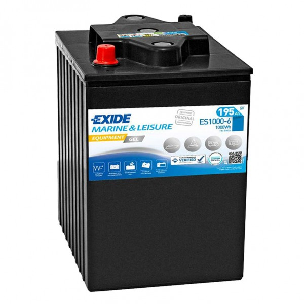 Exide ES1000-6 Equipment Gel 6V 190Ah G180/6 Versorgungsbatterie