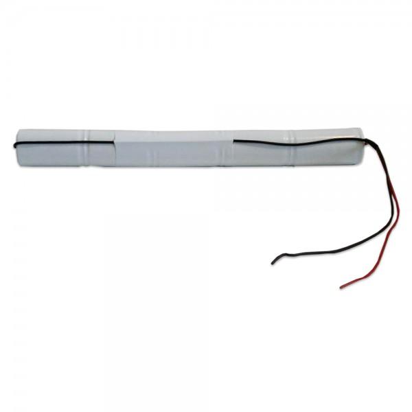 Akku Pack 6V 2500mAh für Notbeleuchtung Stab NiCd L5x1 5xC-Hochtemperaturzellen Kabel