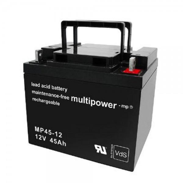 Multipower MP45-12 / 12V 45Ah Blei Akku AGM mit VdS Zulassung