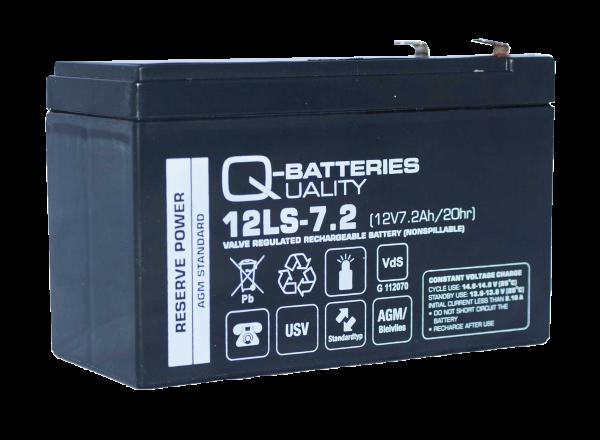 Ersatzakku für Panasonic LC-R127R2PG 12V 7,2Ah AGM Batterie VdS-Copy