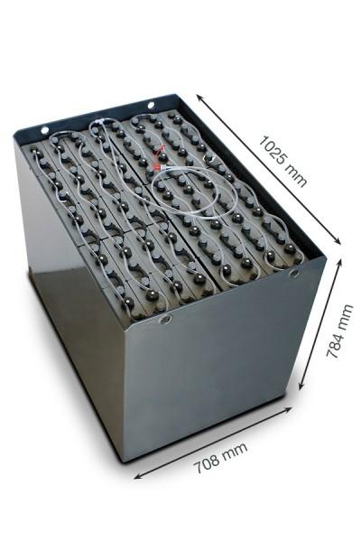 Q-Batteries 80V Staplerbatterie 4 PzS 620Ah DIN A (1025x708x784mm) Trog 57019023 inkl. Aquamatik