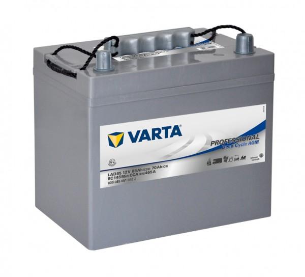 Varta LAD85 Professional DC AGM Batterie 12V 85Ah 465A 830085051