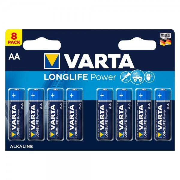 Varta Longlife Power Mignon AA Batterie 4906 LR06 (8er Blister)