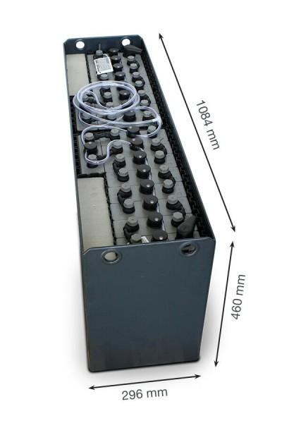 Q-Batteries 36V Gabelstaplerbatterie 3 PzS 240 Ah (1084 x 296 x 460mm L/B/H) Trog 57005341 inkl. Aqu