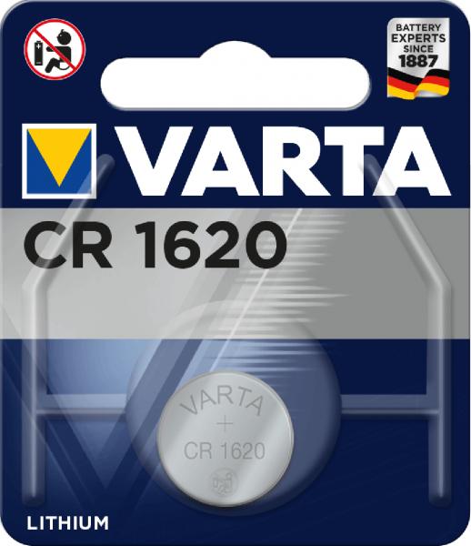 Varta Electronics CR1620 Lithium Knopfzelle 3V (1er Blister) UN3090 - SV188