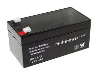 Multipower MP3,4-12 / 12V 3,4Ah Blei Akku VdS Zulassung