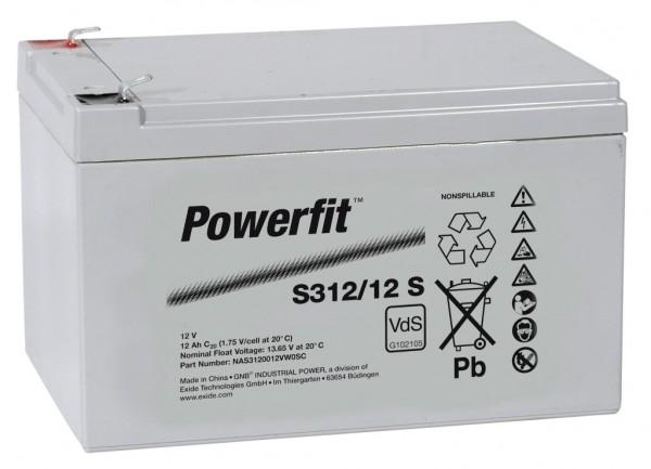 Exide Powerfit S312/12 S 12V 12Ah dryfit Blei-Akku AGM mit VdS