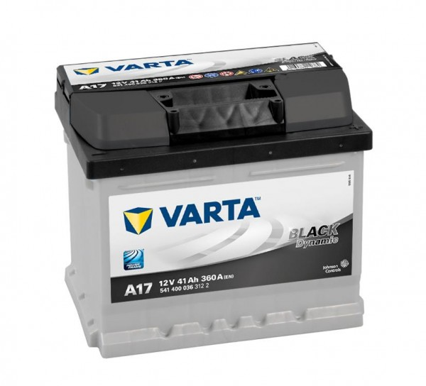 VARTA A17 Black Dynamic 12V 41Ah 360A Autobatterie 541 400 036
