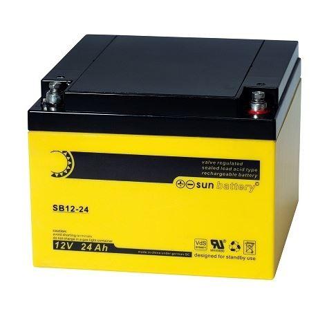 Sun Battery SB 12-24 12V 24Ah (C20) AGM Batterie mit VdS