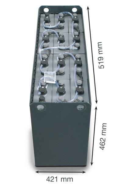 Q-Batteries 24V Gabelstaplerbatterie 4 PzS 320 Ah DIN C (519 x 421 x 462mm L/B/H) Trog 57014006 inkl