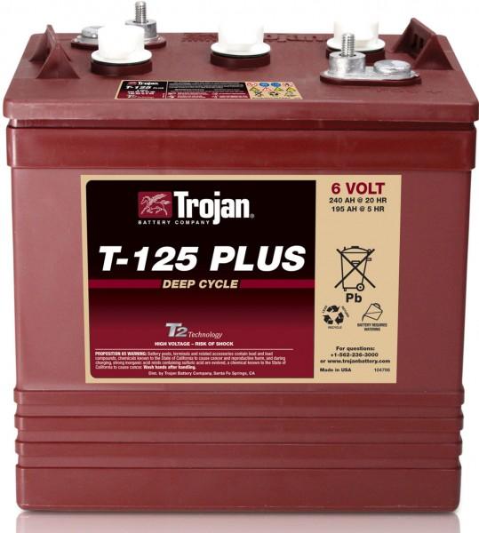 Trojan T-125 Plus 6V 240Ah Deep Cycle Traktionsbatterie ELPT-Anschluss