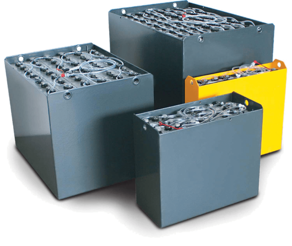 Q-Batteries 48V Gabelstaplerbatterie 7 PzS 805 Ah (987 * 860* 578mm L/B/H) Trog 43053400 inkl. Aquam
