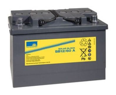 Exide Sonnenschein Solar Block SB12/60 A 12V 60Ah (C100) dryfit Blei Gel-Batterie / Blei Akku