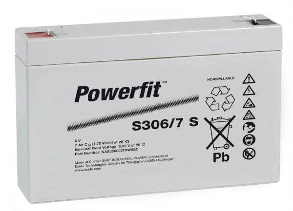 Exide Powerfit S306/7 S 6V 7,5Ah dryfit Blei-Akku AGM