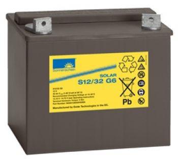 Exide Sonnenschein Solar S12/32 G6 Blei-Gel Batterie 12V 32Ah