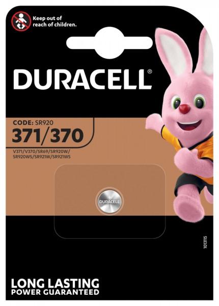 Duracell D 371/370 SR69 Uhrenknopfzelle Silberoxid 40mAh 1,55V (1er Blister)